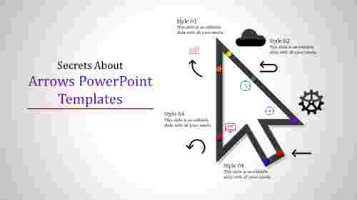 arrows powerpoint templates with incredible shapes