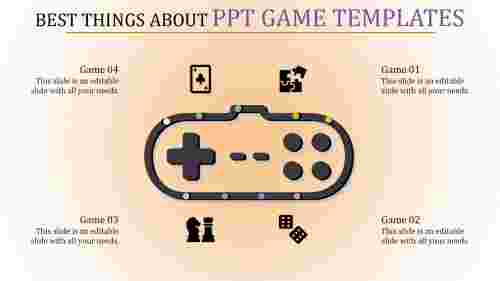 Video game PPT template presentation