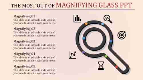 Recruiting magnifying glass PPT