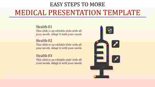Thermometer medical presentation template