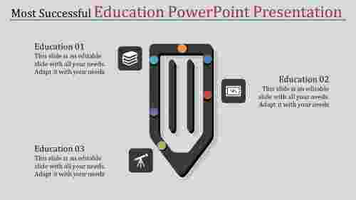 Pen model education PowerPoint presentation
