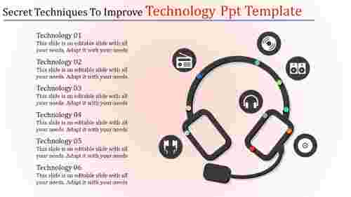 Head%20phone%20designed%20technology%20powerpoint%20template