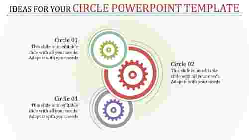 circle powerpoint template - Gearwheel  model