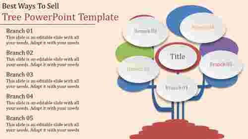 tree powerpoint template with branches