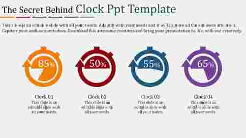 clock powerpoint template Stopwatch model
