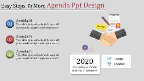 agenda powerpoint design - hand shaking