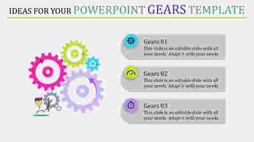 powerpoint gears template - multi color