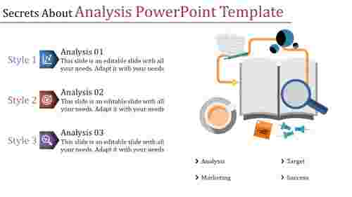 analysis powerpoint template-three elements