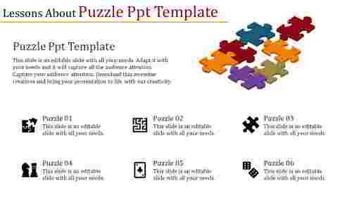 puzzle powerpoint template with icons