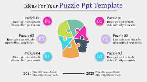 puzzle PPT template - human head
