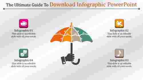 download infographic powerpoint with umberalla model
