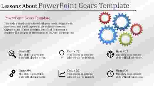 powerpoint gears template with icons