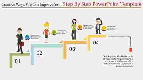 step by step powerpoint template - victory