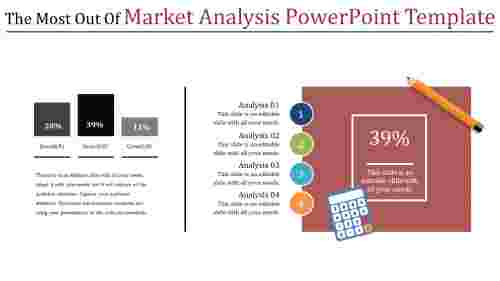 market analysis powerpoint template -  multi color