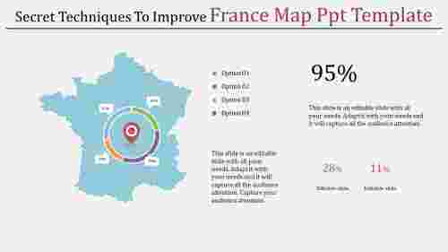 editable france map powerpoint template