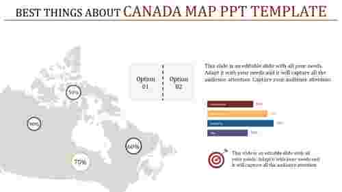 sample canada map powerpoint template