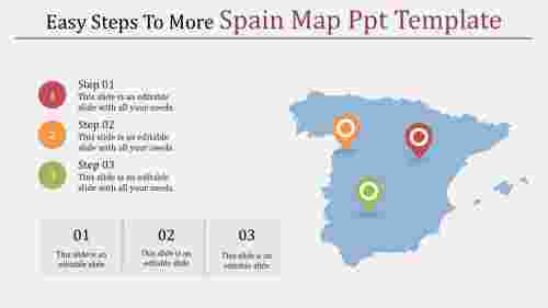 spain map ppt template-Easy Steps To More Spain Map Ppt Template
