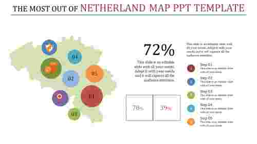 editable netherland map owerpoint template
