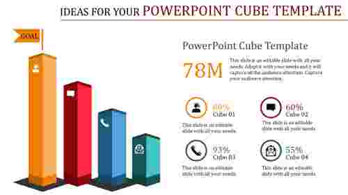 powerpoint cube template - ideas for success