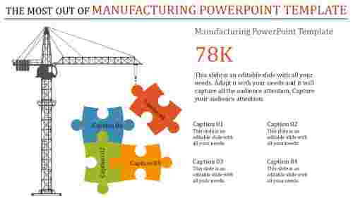 manufacturing powerpoint template - puzzle shaped