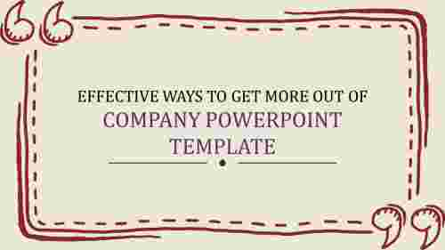company powerpoint template - introduction slide