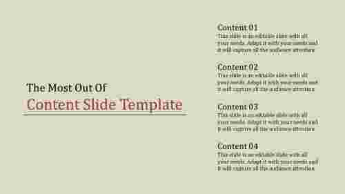 simple  content slide template