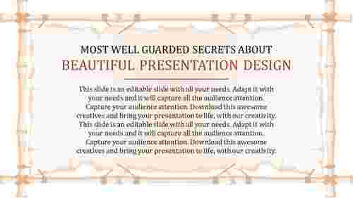 beautiful presentation design - content description