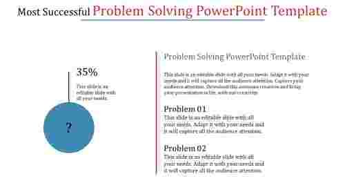 problem solving powerpoint template with percentage