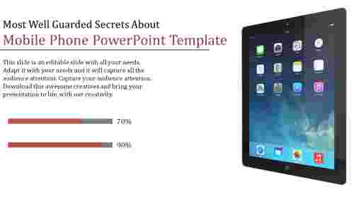 mobile phone powerpoint template - Tab model