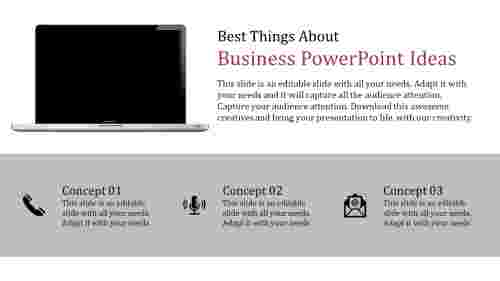 business powerpoint ideas with technology icons
