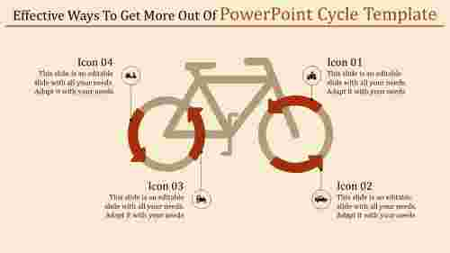 powerpoint cycle template with vehicle icons