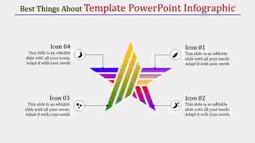 Star template powerpoint infographic
