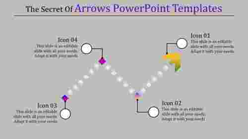 arrows powerpoint templates with square shapes