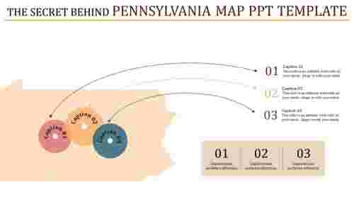 Pennsylvania map powerpoint template for business