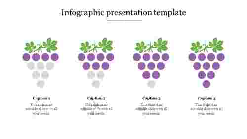 infographic presentation template - Grapes model
