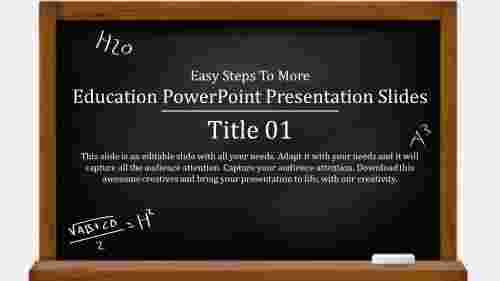 Block board education powerpoint presentation slide