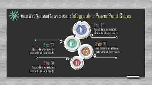 Colorful shaped infographic powerpoint slides