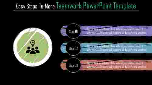 Horizontal Teamwork powerpoint template