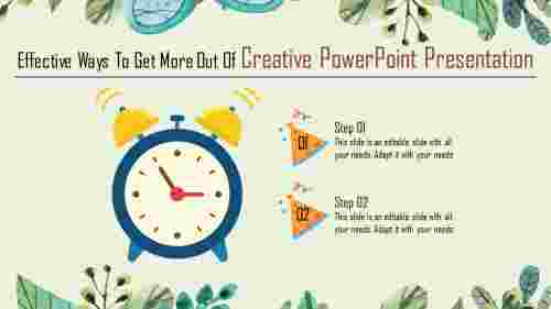 Alarm clock creative powerpoint presentation