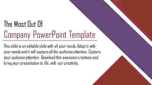 company powerpoint template - introduction powerpoint