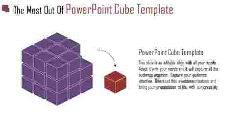 powerpoint cube template - 3D cube business design