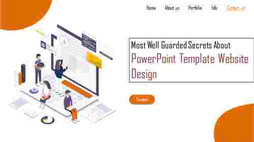 powerpoint template website design - 3D perspective