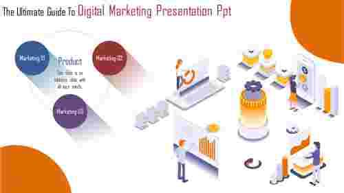 3Dimensional Digital Marketing Presentation Powerpoint