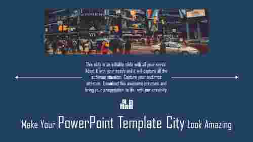 Portfolio powerpoint template city