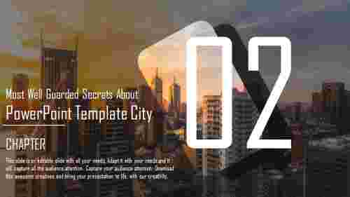 powerpoint template city backgrounds with numbers