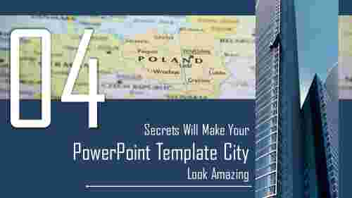 powerpoint template city backgrounds number four