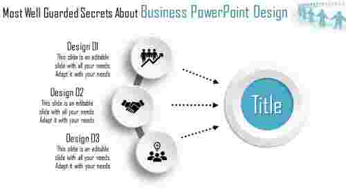 3D business powerpoint design - circular