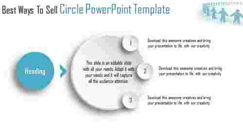 beautiful circle powerpoint template