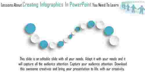 creating infographics in powerpoint - 3D circles