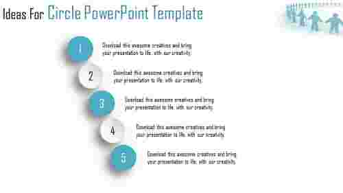 circle powerpoint template - five circles